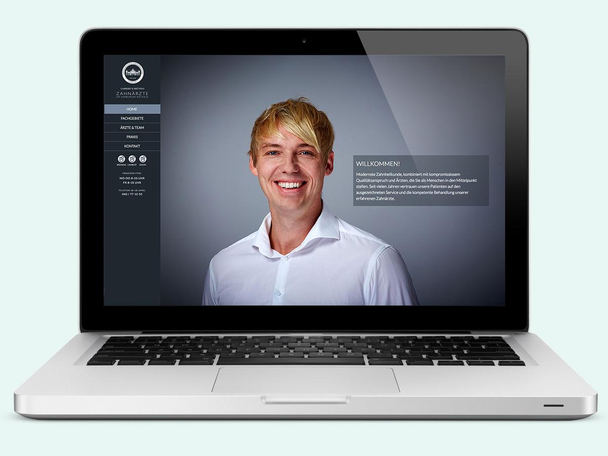 responsive webdesign, zahnarzt hamburg harburg